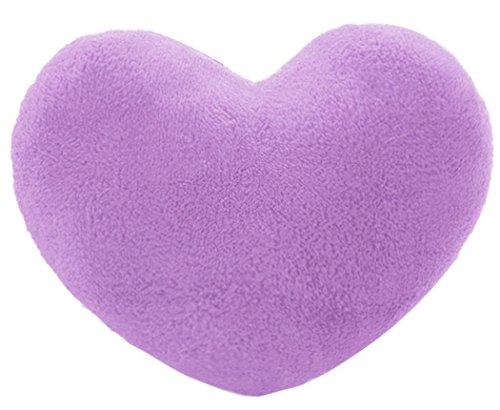 KiKa - Cojín con forma de corazón (morado)