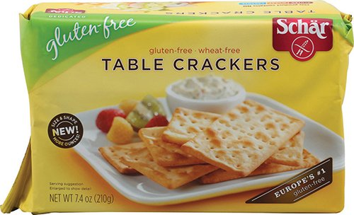 Schar Table Crackers Gluten Free -- 7.4 oz - 2 pc