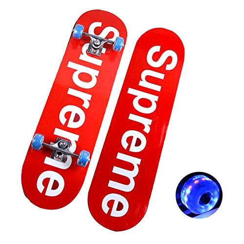 YYYY Double Tilt Skateboard, 7-Lagen-Deck, 31 X8 Pro Full Flash Wheel Skateboard Ahornbrett Longboard, geeignet für Erwachsene, Jugendliche, Anfänger, Mädchen und Jungen 5