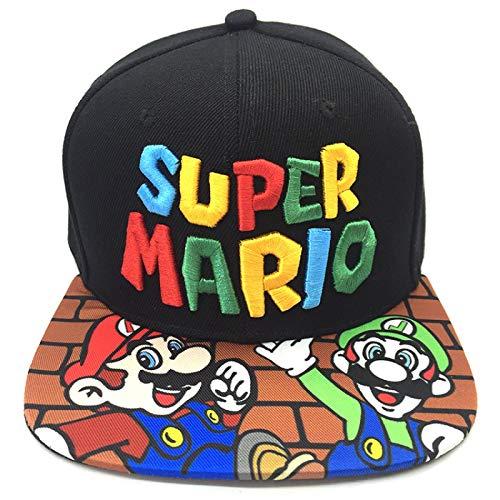 Sombrero de Super Mario Hip Hop Sombrero octogonal de Mario Mario, juego de dibujos animados de Super Mario, sombrero de cosplay periférico, sombrero para el sol, sombrero para estudiantes