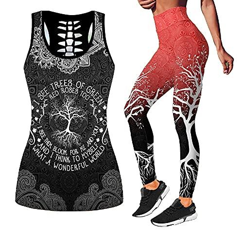 PiaWatch Espada Y Dragón Camiseta Sin Mangas Hueca Impresa En 3D, Chaleco Sexy para Mujer, Ropa De Mallas De Moda para Niñas, Traje De Gimnasio (Color : D, Tamaño : XXL)