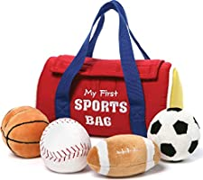 "Baby GUND My First Sports Bag Stuffed Plush Playset, 8"", 5 pieces"