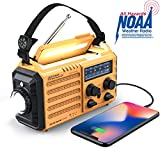 Weather Radio Raynic Solar Hand Crank Emergency Radio 5 Ways Powered...