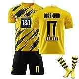 LISI Camiseta de fútbol para hombre, modelo Haland Borussia Dortmund 20/21, réplica de fútbol para deportes al aire libre, juego de 3 piezas, C,26