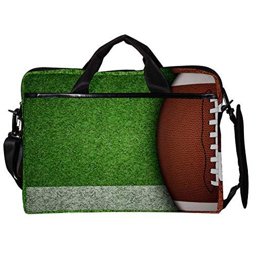 TIZORAX Laptop Messenger Schultertaschen American Football On Playground Computer Schutzhülle Notebook-Tasche 15-15,4 Zoll Handtasche