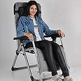 EQUAL PRO Zero Gravity Folding Single Recliner Relaxing Chair w/Cushion, Silver