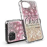 Compatible with Motorola One 5G UW Case, Clear Moto G 5G Plus Phone Case with Glitter Bible Verse Proverbs Design Inside, Slim Dual Layers Defender Protective Cover Cases for Moto One 5G UW 6.7