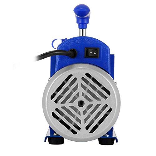 Olibelle 220V/50HZ 3CFM1-3HP Pompe à Vide Climatisation Voiture Electrique Air Vacuum Pump Systèmes de Réfrigération Climatisation