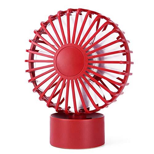 Huishoudelijke kleine ventilator, Desktop Radiator, verstelbare Wind And Silent borstelloze motor, Rubber Anti-slip bij de bodem, geschikt voor slaapkamer en woonkamer,Red
