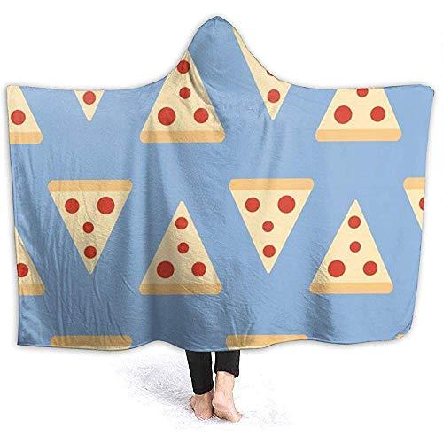 Pizza Pattern Mens Hooded Blanket Superweiche Flanelldecke mit Kapuze Throw Wrap Decke mit Kapuze Robe mit Kapuze Mantel für Bademantel
