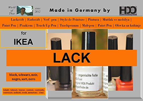 HDO kleurstift lakstift touch-up pen voor Ikea lak zwart