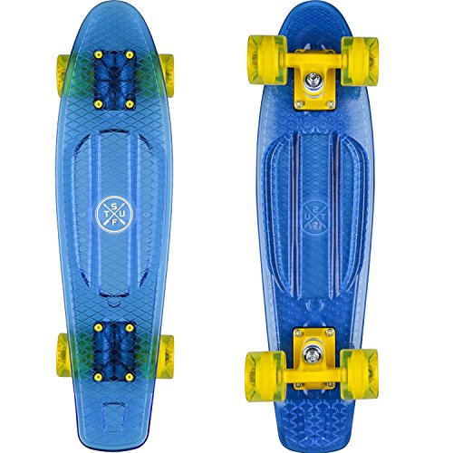 Stuf OCEAN RETRO BOARD blau-transparent