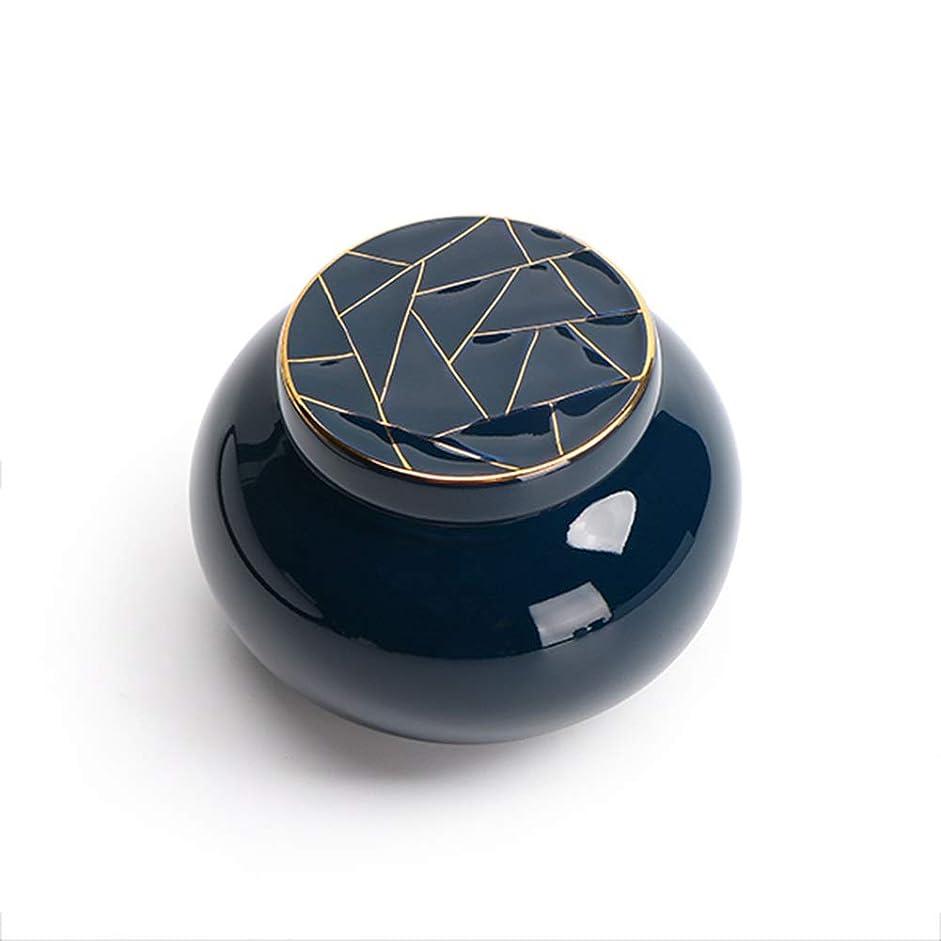 最適脅威宿HLN-ミニ骨壷 ミニ骨壷ポータブル大人子供の灰貯蔵タンク手作りシールホワイト葬儀お土産 (Color : Blue)