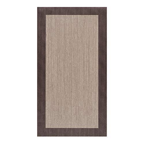 STORESDECO - Alfombra Vinílica Deblon, Alfombra de PVC Antideslizante y Resistente, Ideal para Salón, Pasillo, Cocina, Baño…   Color Marrón Oscuro, 80 cm x 150 cm