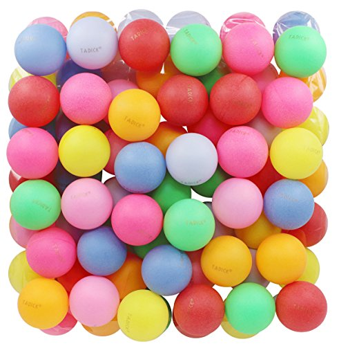 TADICK Assorted Color Beer Ping Pong Balls Washable Plastic Table Tennis Ball...