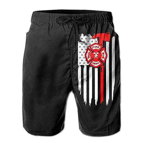 Hunter qiang USA Flag Crack Short de plage pour homme - Multicolore - L