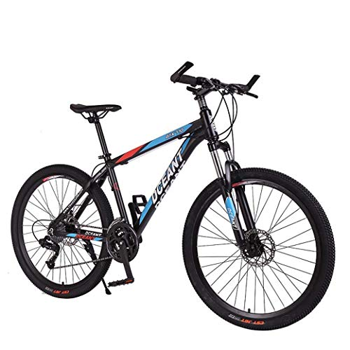 KEKEYANG Outdoor Outdoor Sports Mountain Bike Folding Bikes, 21Speed Double Disc Brake Suspension Fork Antislip, Offroad Variable Speed Racing Bikes for Men and Women Bike