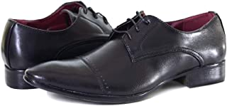 Formal Derby Shoes with Lace-Up Closure, Black, 7 UK / 8 US