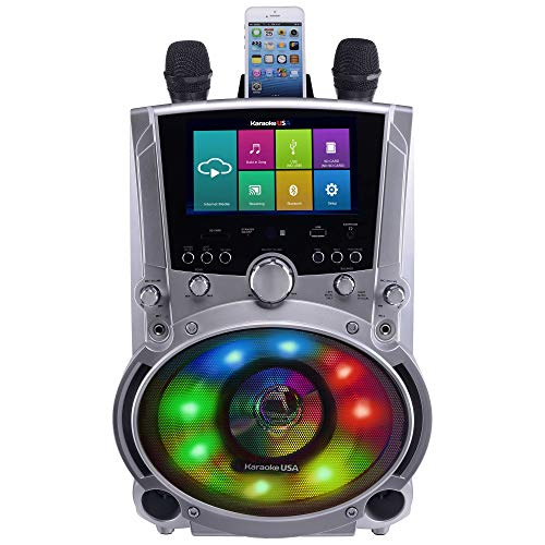 Karaoke USA WK760 All-In-One Wi-Fi Multimedia Karaoke System With 7 LCD Touch Screen, Recording and Bluetooth Speaker