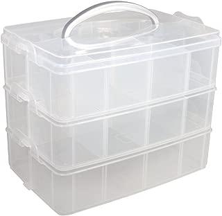 Purpura clara Caja de almacenamiento herramientas de hardware de 2 capas mango de plastico TOOGOO R