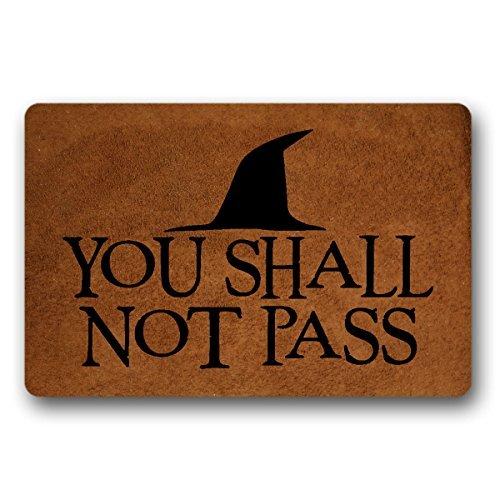 You Shall Not Pass (2) Felpudo para puerta de entrada, no tejido para interiores y exteriores, decoración para el hogar y la oficina, 30 x 18 pulgadas