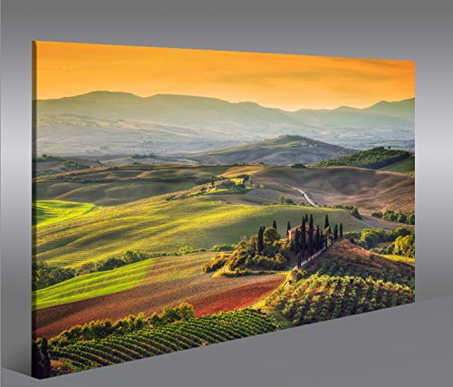 islandburner Bild Bilder auf Leinwand Toskana V5 Italien Landschaft 1p XXL Poster Leinwandbild Wandbild Dekoartikel Wohnzimmer Marke