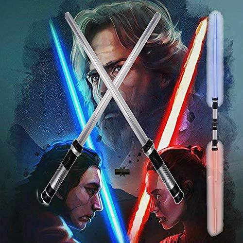 Lightsaber 2-in-1 LED FX Dual Laser Swords Set with Sound and Realistic Handle