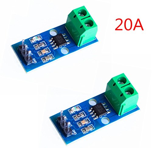ihaospace 2 pcs ACS712 ACS712ELC Current Sensor Module 5 A measu Anillo Range Range Current Sensor for Arduino ACS712 20A
