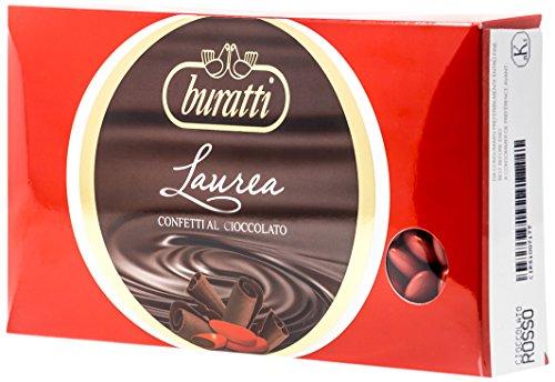 Buratti Confetti al Cioccolato, Rosso - 1000 g