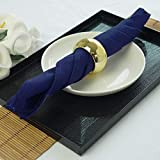 Efavormart Pack of 25 Navy Blue Premium 17' x 17' Washable Polyester Napkins Great for Wedding Party Restaurant Dinner Parties