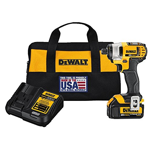 DEWALT 20V MAX Impact Driver Kit with 1 Battery, 1/4-Inch (DCF885L1)