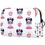 Bolsa de maquillaje personalizada para brochas de maquillaje, bolsa de aseo portátil para mujeres, bolso cosmético, organizador de viaje, chica mexicana, azúcar y calavera, maquillaje
