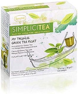 Ronnefeldt SimpliciTea My Tropical Green Tea Float, Aromatisierter Grüner Tee mit Mango-Maracujageschmack, 10 Teekapseln à 3 g