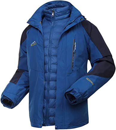 Hiking Jacket Ladies Camping Lightweight Raincoat Hooded Autumn and Winter TwoPiece