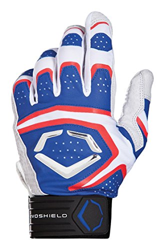 Wilson Sporting Goods Evoshield Impakt 950 Batting Gloves, Royal/White/Red, Small