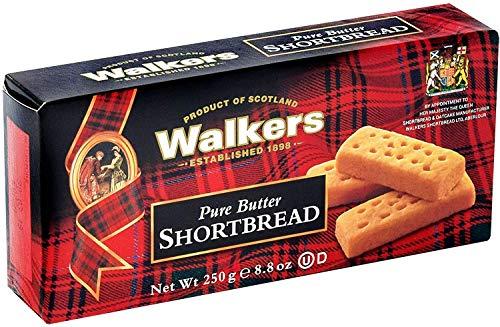Walkers – Shortbread Limited Butter 250 g – verpakking van 12 stuks.