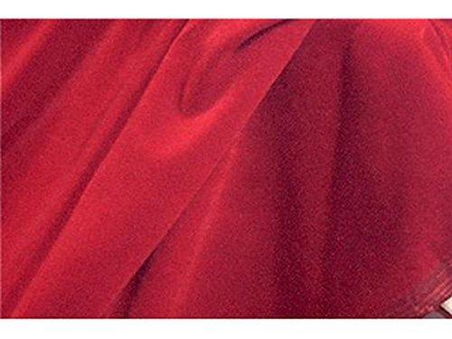 SyFabrics plush triple velvet fabric 44 inches wide Red