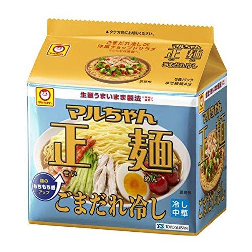 マルちゃん 正麺ごまだれ冷し 5食パック 120g×5×6 (KK)