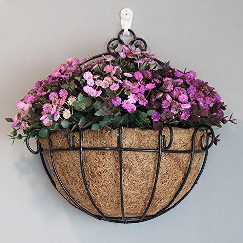 WXL Gefälschte Blume Künstliche Blume, Kreative Vogel Nest Eisen Handwerk Zaun Wandbehang Startseite Blume Restaurant Hochzeit Gefälschte Blume Blume (Color : Purple)