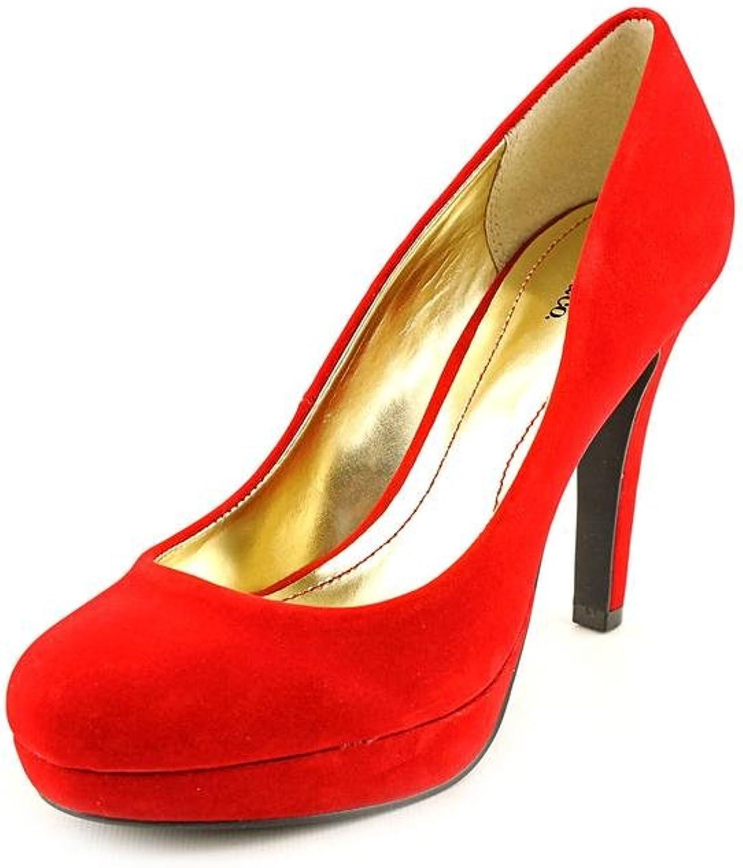 Style & Co. Women's Tarah Velvet Platform Pumps in red