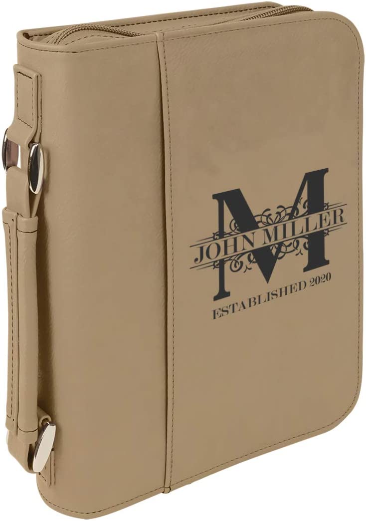 Personalized Max 76% OFF Royal Monogram Large Leatherette Genuine Cover w Book Bible