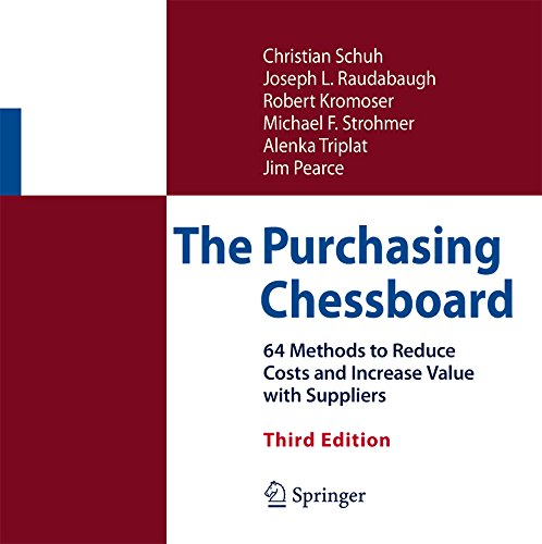 The Purchasing Chessboard: 64 Methods to Reduce Costs and Increase Value with Suppliers (English Edition)