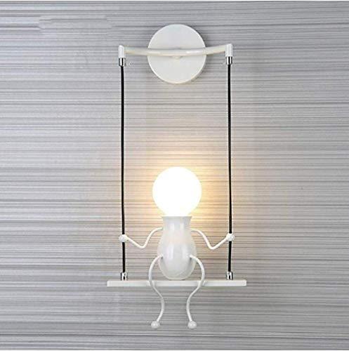 Wandlamp Creative Feature Night Light Modern Doll Swing Child geschikt for Slaapkamer Nachtlampjes Kinderen Kamer Corridor Retro Wandlamp buiten