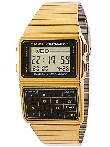 Casio DBC611G-1D Casio Digitalarmbanduhr, goldfarben und schwarz, Einheitsgröße
