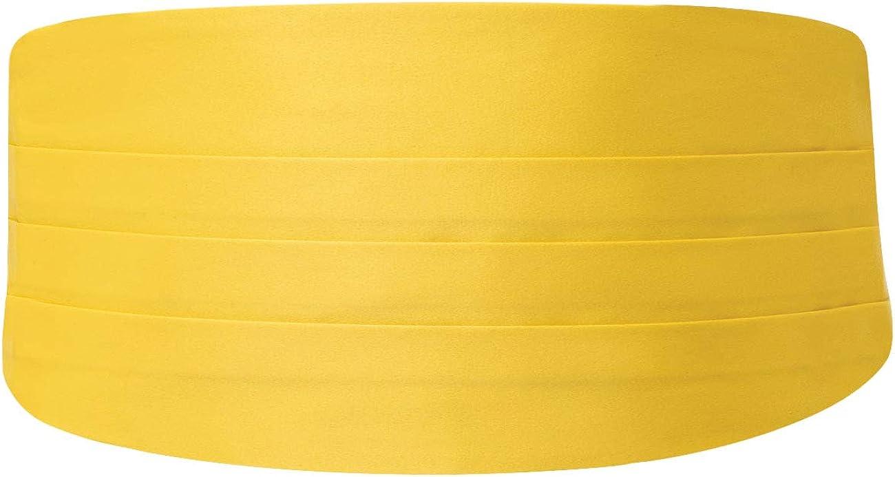 Dobell Mens Yellow Cummerbund Regular Fit (28-42in)