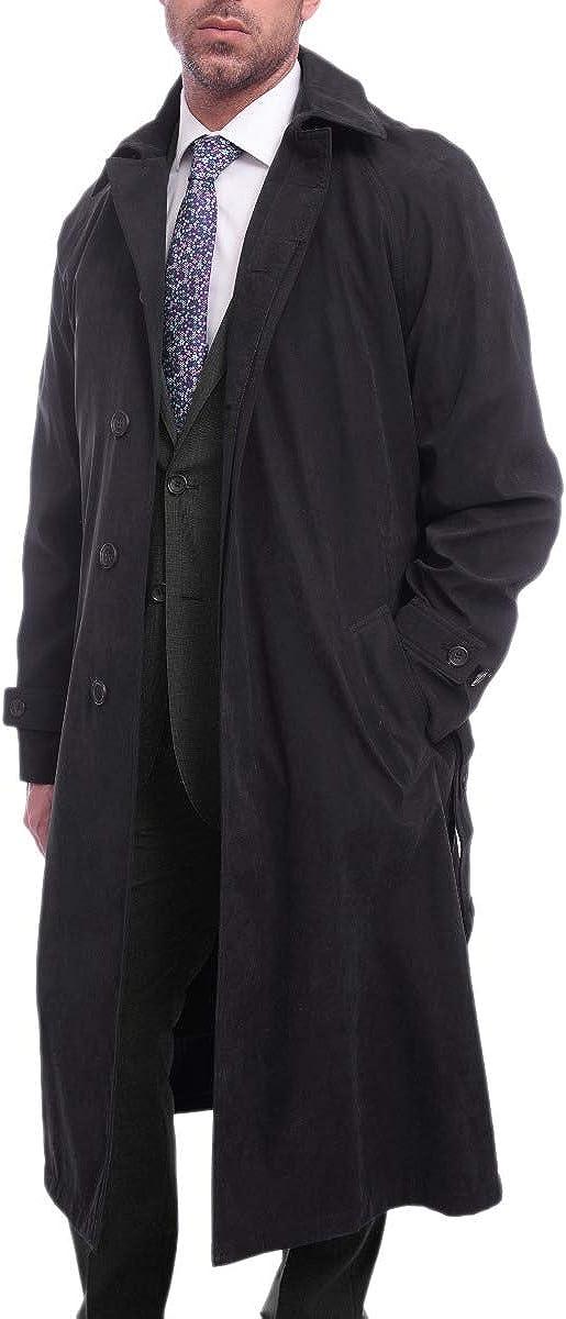 Men's Single Breasted Rain-Proof Long Trench Coat