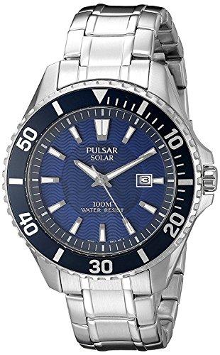 [セイコー パルサー] SEIKO PULSAR 100M防水 ソーラー 腕時計 PX3067 メンズ [並行輸入品]