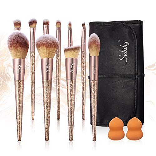 Subsky brochas de maquillaje con esponjas de maquillaje professional pincel de maquillaje sintético avanzado pincel de base pincel de rubor pincel de sombra de ojos pincel de maquillaje