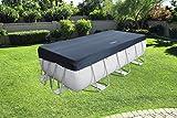 Bestway 58232 - Cubierta para piscina de estructura splash 404 × 201 cm / 412 × 201 cm, medidas de cobertor 3.96 m x 1.85 m