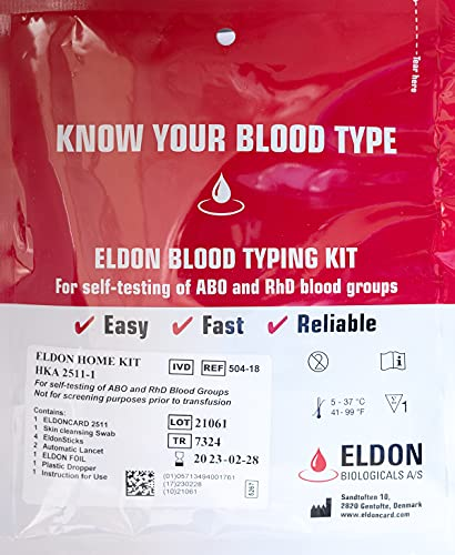 Original Home Blood Typing Kit - New Package + Extra Lancet...